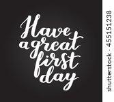 vector hand written lettering... | Shutterstock .eps vector #455151238