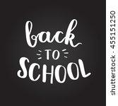 vector hand written lettering... | Shutterstock .eps vector #455151250