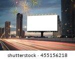 blank billboard on the highway... | Shutterstock . vector #455156218