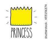 princess. greeting card...   Shutterstock .eps vector #455156374