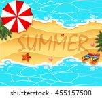 summer theme background wtih... | Shutterstock .eps vector #455157508