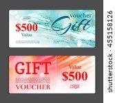 gift voucher template. can be... | Shutterstock .eps vector #455158126
