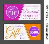 gift voucher template. can be... | Shutterstock .eps vector #455158138