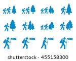 set of hiking icon illustration ... | Shutterstock .eps vector #455158300