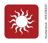 sun icon. vector illustration   | Shutterstock .eps vector #455158333