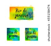 hand drawn inscription rio de... | Shutterstock .eps vector #455158474