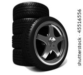 3d tires and alloy wheels | Shutterstock . vector #45516556