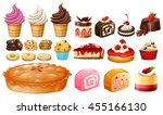 set of different kinds of... | Shutterstock .eps vector #455166130