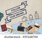 travel journey exploration... | Shutterstock . vector #455168704