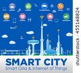 smart city conceptual... | Shutterstock .eps vector #455168824