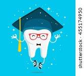 happy healthy wisdom tooth in... | Shutterstock .eps vector #455174950