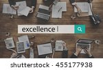 excellence ability skills... | Shutterstock . vector #455177938