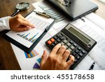 business analysis   calculator  ... | Shutterstock . vector #455178658