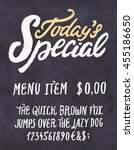 today's special menu.... | Shutterstock .eps vector #455186650