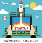 successful startup business... | Shutterstock .eps vector #455211064