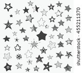 stars doodle cartoon style... | Shutterstock .eps vector #455211370