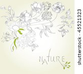 template for decorative card or ...   Shutterstock .eps vector #45521323