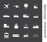 vehicle and transport icons | Shutterstock .eps vector #455215480