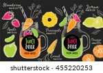 juice menu placemat drink... | Shutterstock .eps vector #455220253