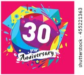 30th years greeting card... | Shutterstock .eps vector #455221363