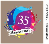 35th years greeting card... | Shutterstock .eps vector #455221510