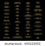 vintage decor elements and... | Shutterstock .eps vector #455223553