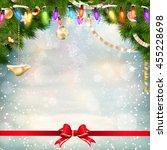 christmas holiday blinking... | Shutterstock .eps vector #455228698