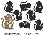 monkey cartoon. find the right... | Shutterstock .eps vector #455232793
