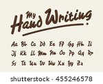 vector of stylized handwriting... | Shutterstock .eps vector #455246578
