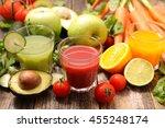 vegetable juice smoothie | Shutterstock . vector #455248174