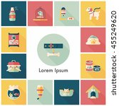 pet and veterinary icons set | Shutterstock .eps vector #455249620