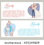 banner happy family portrait.... | Shutterstock .eps vector #455249809