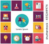 school and education icons set | Shutterstock .eps vector #455249974