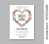 invitation or wedding card with ... | Shutterstock .eps vector #455252680