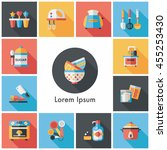 kitchen and cooking icons set | Shutterstock .eps vector #455253430