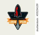 space rocket launch logo... | Shutterstock .eps vector #455254159
