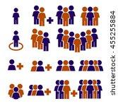 team work  crowd icon set | Shutterstock .eps vector #455255884