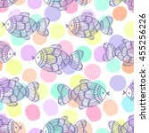 seamless pattern with fishes on ...   Shutterstock .eps vector #455256226