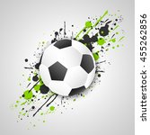 soccer ball  football ball ... | Shutterstock .eps vector #455262856