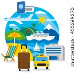 travel and tourism concept flat ... | Shutterstock .eps vector #455269270