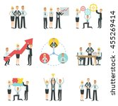 business team working together... | Shutterstock .eps vector #455269414