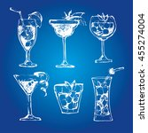 cocktail set. elements for the... | Shutterstock .eps vector #455274004
