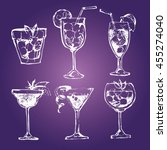 cocktail set. elements for the... | Shutterstock .eps vector #455274040