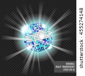 disco ball with glow. really ... | Shutterstock .eps vector #455274148