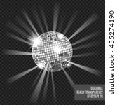 disco ball with glow. really...   Shutterstock .eps vector #455274190