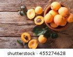 Delicious Ripe Apricots In A...