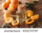 Apricot Kernel Oil In A Glass...
