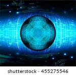 blue eye abstract cyber future... | Shutterstock .eps vector #455275546