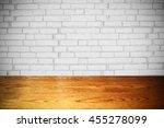 room interior vintage with... | Shutterstock . vector #455278099