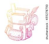 school bag. school supplies....   Shutterstock .eps vector #455278750